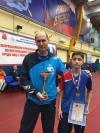 Золотая медаль на «Кубке Петра I» по настольному теннису.