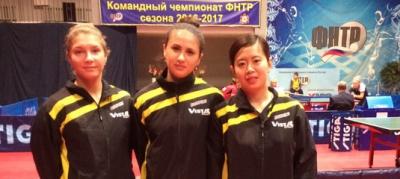 """Женская команда КНТ """"Родина"""" заняла третье место в Премьер лиге"""