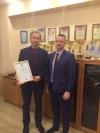 Благодарственное письмо Родину Алексею Федоровичу по итогам года.