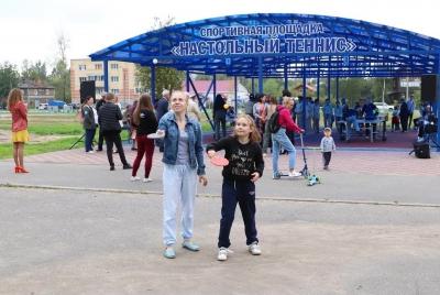 На территории военно-патриотического клуба «Орден» и школы № 62 Архангельска открыта площадка для настольного тенниса.